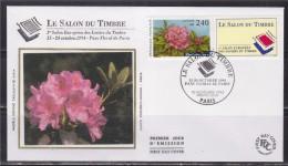 = Salon Du Timbre 15-24.10.94 Parc Floral De Paris Enveloppe 1er Jour Paris 10.11.93 N°2849 - 1990-1999