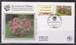 = Salon Du Timbre 15-24.10.94 Parc Floral De Paris Enveloppe 1er Jour Paris 10.11.93 N°2850 - 1990-1999