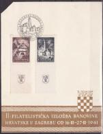 1941. FILATHELIC EXHIBITION IN ZAGREB - Cartas