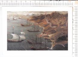 ORDRE  De   MALTE   -    Galères    -  Carte  Double - Sailing Vessels