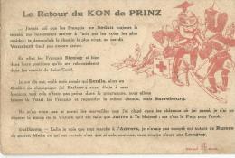Militaria Guerre 14-18  Le Retour Du KRON De PRINZ (humoristique) - War 1914-18