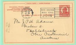 OM1. USA Entier Postal  Oklahoma City 28 NOV 1936. Thème Croix-rouge.  Red-Cross