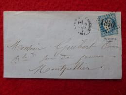 CERES VARIETE FILET ENCADREMENT GC 1840 L ISLE SUR SORGUE - Marcophilie (Lettres)