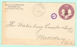 OM1. USA Entier Postal  Pequabuk Conn.