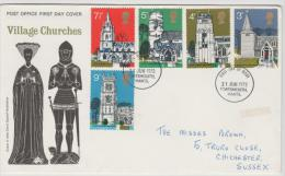 Grossbritannien XX001 /  Kirchen 1972, FDC - 1971-1980 Dezimalausgaben