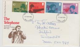 Grossbritannien XX002 / Telefon 1976, FDC - 1971-1980 Dezimalausgaben