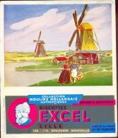 Buvard Vloeipapier Reclame Biscottes Excel Lille - Moulins  Hollandais - Molen - Sucreries & Gâteaux