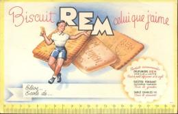 Buvard Vloeipapier Reclame Biscuit REM - Sucreries & Gâteaux