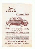 """Carte Postale Publicitaire - Automobile """" ISARD """"- Voiture, Auto, Oldtimer - Verviers - Garage Schmid 1957 (b174) (b174) - Publicités"""