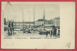 Dendermonde - Het Sas Te Winter - 1902 ( Verso Zien ) - Dendermonde
