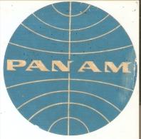 ETIQUETA ANTIGUA DE LA COMPAÑIA AEREA PANAM (AVION-PLANE) - Aufkleber