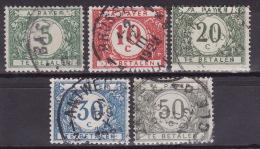 BELGIUM 1919. Mi 17/21, USED - Portomarken