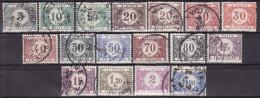 BELGIUM 1921. Mi 22/38 A, B; USED - Taxes