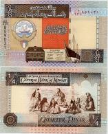 KUWAIT       ¼ Dinar       P-23[h]       L. 1968 (ca. 2013)       UNC  [Sign. 16] - Quarter - Koweït