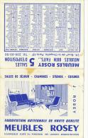 Calendrier Petit Format, 1965 : Meubles Rosey, Boulevard De La Chapelle, Paris - Calendriers