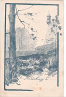 24413 Deux 2 Cartes Postales Dessin De Biston ? , Fort Thungen - Cartes Postales