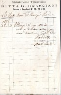 1896 TIPOGRAFIA G. BRESCIANI FERRARA - Italia
