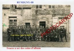 RUMIGNY-Mitrailleuses-CARTE PHOTO Allemande-Guerre14-18-1WK-Militaria-Frankreich-France-08- - Francia