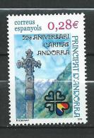 Andorra Spanish Andorra.2005 The 25th Anniversary Of Caritas Andorra.MNH - Andorre Espagnol