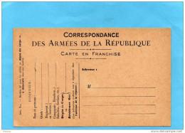 Carte FM Mod A2-neuve - Pour Les Soldats Au Dépot Du Corps à Demeure-TTB  état Impec - Marcophilie (Lettres)