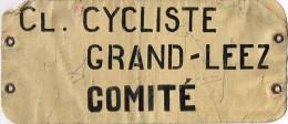 Grand-Leez - Brassard De Comité Club Cycliste - Cyclisme