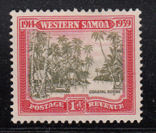Western Samoa MH Scott #181 SG #195 1p Samoan Coastal Village - Samoa