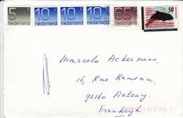 PAYS BAS NEDERLAND 1985      Ayant Voyagé   Amsterdam Antony (France) Dont 3v Non Oblitérées - Period 1980-... (Beatrix)