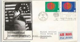 Lettre Du Senateur J.James Sensenbrenner Jr, Postée à New-York Vers La France (Women´s Year 1975) Deux Photos - Lettres & Documents