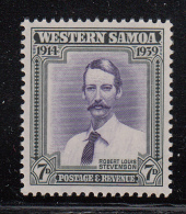 Western Samoa MH Scott #184 SG #198 7p Robert Louis Stevenson - Samoa