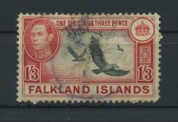 FALKLAND  ISLANDS   1938    1/3  Black  And  Carmine  Red     USED - Falkland Islands