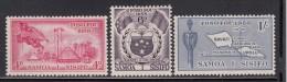 Western Samoa MH Scott #220-#222 SG #236-#238 Set Of 3 Flag And Village, Seal, Map Inscribed 'Fono Fou 1958' - Samoa