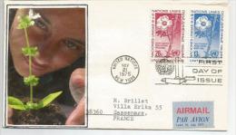 Lettre Du Senateur J.James Sensenbrenner Jr, Postée à ONU New-York 1975 Vers La France  . Deux Photos - Lettres & Documents