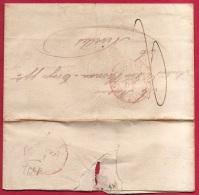 Br-7124   CHARLEROY   1837      NAAR     NIVELLES - 1830-1849 (Belgique Indépendante)
