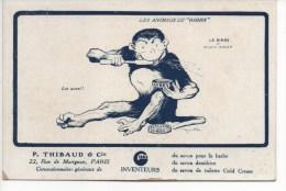 LES ANIMAUX DE GIBBS  -  LE SINGE, ILLUSTRATEURS  Signés  BENJAMIN  RABIER, SAVON  DENTIFRICE GIBBS  (  Carte Postale ) - Illustrateurs & Photographes
