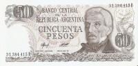 BILLETE DE ARGENTINA DE 50 PESOS GRAL SAN MARTIN DIFERENTES FIRMAS (BANKNOTE)  SIN CIRCULAR-UNCIRCULATED - Argentina