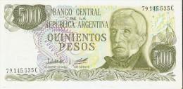 BILLETE DE ARGENTINA DE 500 PESOS GRAL SAN MARTIN DIFERENTES FIRMAS (BANKNOTE)  SIN CIRCULAR-UNCIRCULATED - Argentina