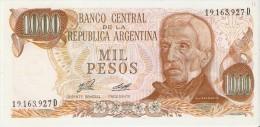 BILLETE DE ARGENTINA DE 1000 PESOS GRAL SAN MARTIN DIFERENTES FIRMAS (BANKNOTE)  SIN CIRCULAR-UNCIRCULATED - Argentine
