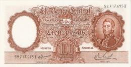 BILLETE DE ARGENTINA DE 100 PESOS DEL AÑO 1964 (BANKNOTE) - Argentina