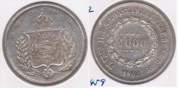 BRASIL 1000 REIS 1862 PLATA SILVER Y - Brasil