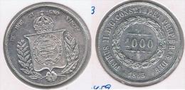 BRASIL 1000 REIS 1863 PLATA SILVER Y - Brasil