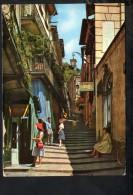 P1637 BELLAGIO ( Lago Di Como ) - ANGOLO CARATTERISTICO CON FARMACIA E DONNE IN POSA ( FRAU GIRL PINUP ) USED 1962 - Other Cities