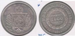BRASIL 1000 REIS 1864 PLATA SILVER Y - Brasil