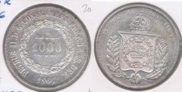 BRASIL 1000 REIS 1866 PLATA SILVER Y - Brasil