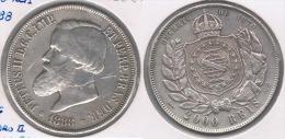 BRASIL 2000 REIS 1888 PLATA SILVER Y - Brasil