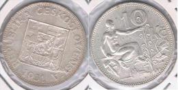 CHECOSLOVAQUIA 10 CORONAS 1931 PLATA SILVER Y - Checoslovaquia