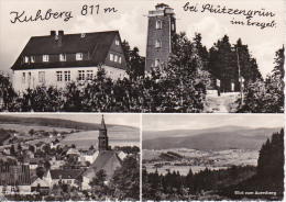 AK Kuhberg Bei Stützengrün Im Erzgebirge - Mehrbildkarte - Stempel HO-Berggaststätte (18163) - Bad Gottleuba-Berggiesshuebel