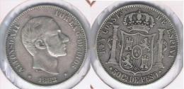 ESPAÑA FILIPINAS ALFONSO XII 50 CENTAVOS PESO 1882 PLATA SILVER Y - Filipinas
