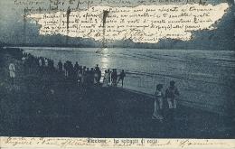 Riccione(Rimini)-La Spiaggia Di Notte-1920 - Rimini
