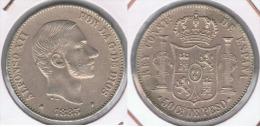 ESPAÑA FILIPINAS ALFONSO XII 50 CENTAVOS PESO 1885 PLATA SILVER Y. BONITA - Filipinas