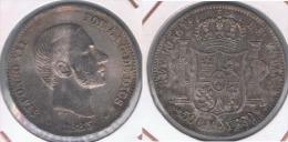 ESPAÑA FILIPINAS ALFONSO XII 50 CENTAVOS PESO 1885 PLATA SILVER Y - Filipinas